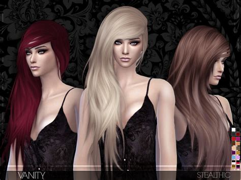 custom hair for sims 4 stealthic vanity female hair