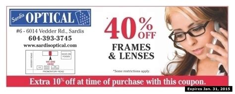 40 off eyeglasses at sardis optical health beauty