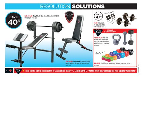 workout bench canadian tire canadian tire weekly flyer weekly flyer jan 9 15