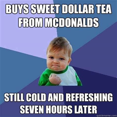 Sweet Tea Meme - success kid memes quickmeme