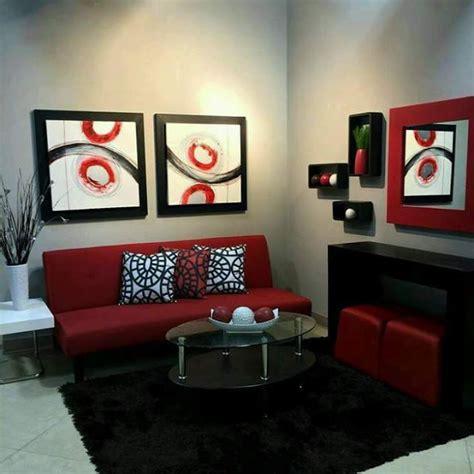 como decorar tu sala de color rojo
