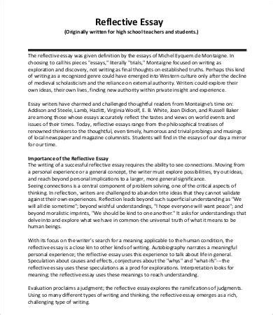 Define Reflective Essay by Reflective Essay Reflective Essay On High School Essay On High School Reflective Essay