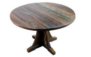 Mexicali rustic wood dining table 48 round mexican rustic