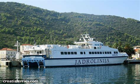 catamaran ferry split to hvar catamaran ferry karolina jadrolinija croatia ferries
