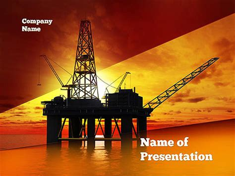 oil rig presentation template for powerpoint and keynote