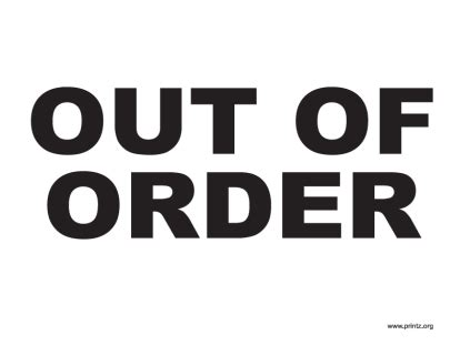 Out Of Order Sign Printable Car Interior Design Out Of Order Sign Template