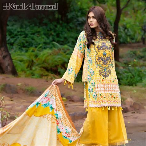 dress design lawn pakistan gul ahmed summer embroidered lawn dresses collection 2017 2018