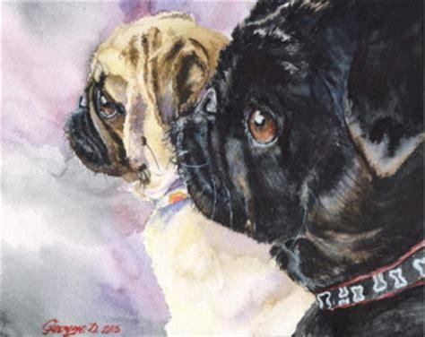 black pug painting black pug etsy