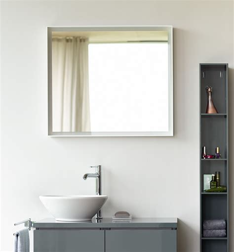 bathroom mirror l duravit l cube 650mm mirror with led lighting lc738000000