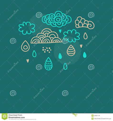 doodle rian doodle clouds and royalty free stock photos image