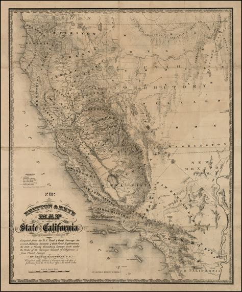 california map history britton s map of the state of california barry