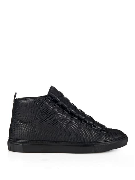 lyst balenciaga arena water snake high top trainers