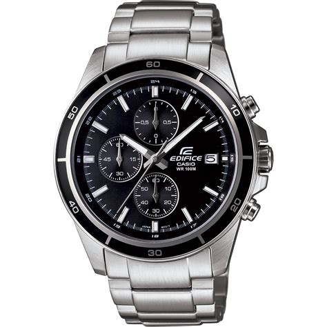 Casio Edifice Efa 100 Silver casio edifice chronograph stainless steel bracelet black
