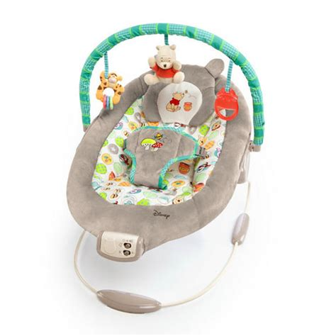 winnie the pooh bouncy chair winnie the pooh dots hunny pots bouncer