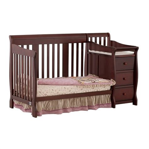 Baby Crib Combo by 4 In1 Crib Changer Combo In Cherry 04586 474
