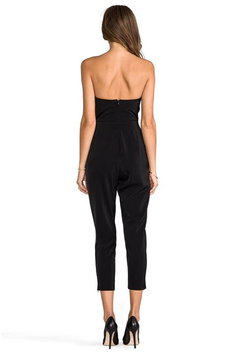 Jumpsuit Import Murah 1758 White aq aq vanity jumpsuit in black revolve