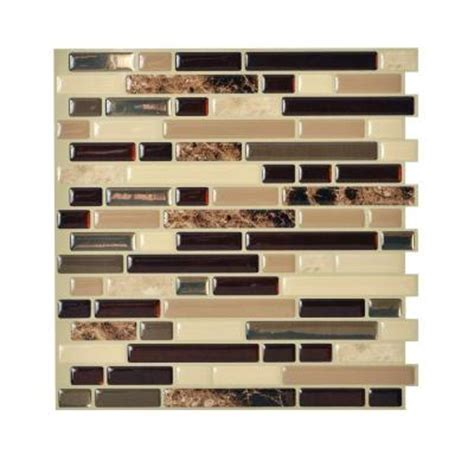smart tiles bellagio keystone 10 00 in x 10 06 in peel and stick mosaic decorative wall tile