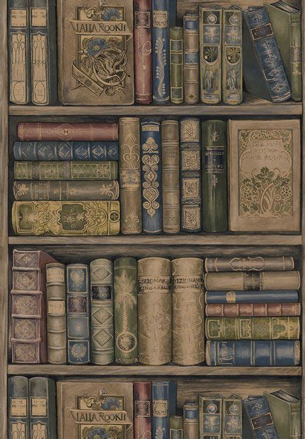 book wallpaper  sherwin williams book wallpaper