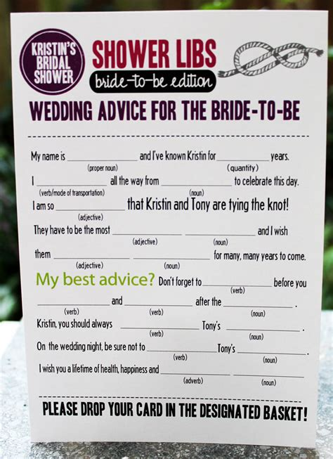free printable bridal shower mad libs game bridal shower mad libs wedding ideas pinterest