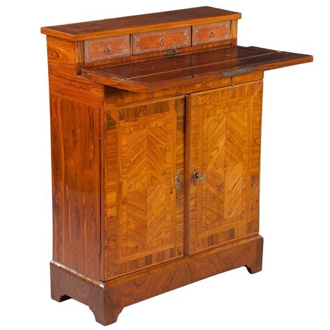 Narrow Depth Storage Cabinet Parquetry Kingwood Secretaire Cabinet Cupboard Shallow Narrow Depth For Sale At 1stdibs