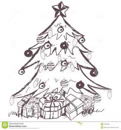 christmas tree stock vector image of doodles creative