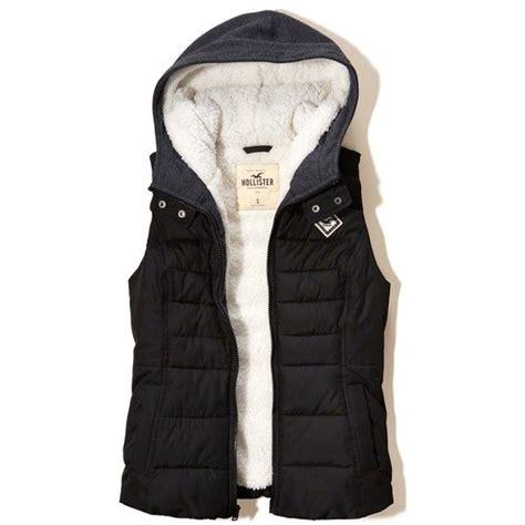 Hollister Puff Jacket hollister sherpa lined twofer puffer vest 40 liked on