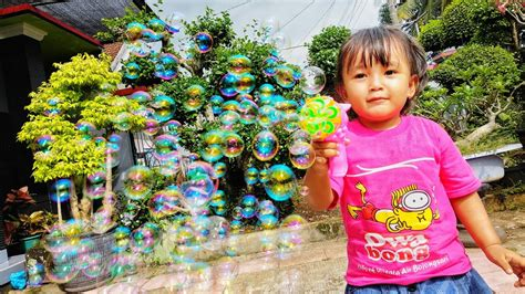 Mainan Balon Gelembung Mainan Balon Busa Mainan Sabun Refill 1 mainan anak bermain gelembung balon air bermain di halaman bermain pistol balon