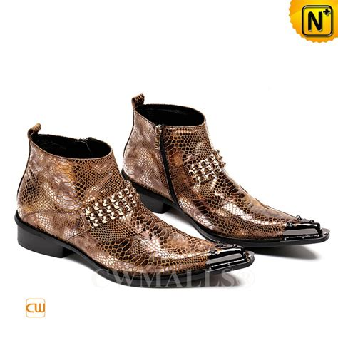 cwmalls 174 embossed patent leather dress boots cw707218