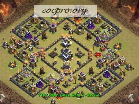Layout Coc Base War Th9 | top best coc th9 war bases 2017 2018 town hall 9 farming