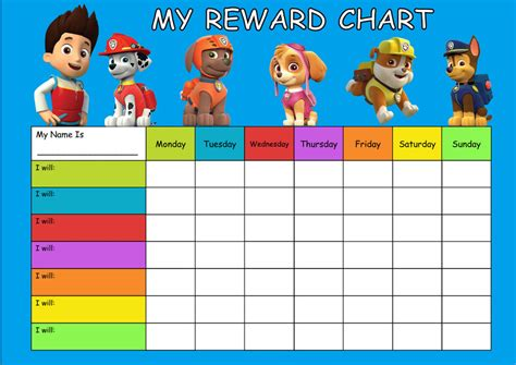reward chart template 13 free word excel pdf format download