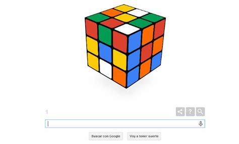 doodle rubik invita a jugar al cubo de rubik en su web con un