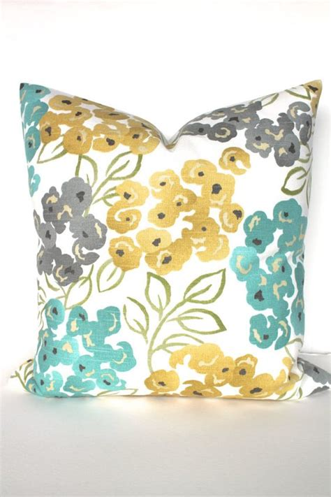 Teal And Yellow Throw Pillows by Pillow Turquoise Teal 12x18 Decorative Throw Pillows Gray