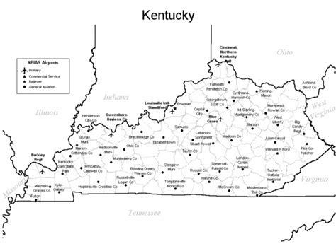 kentucky county map pdf kentucky airports map kentucky mappery