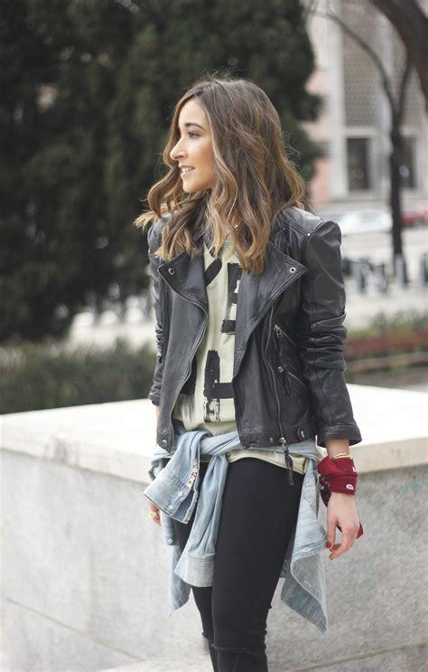 Jaket Gloria Ripped biker jacket besugarandspice fashion
