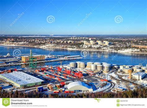 porto di stoccolma porto di stoccolma svezia immagine editoriale immagine