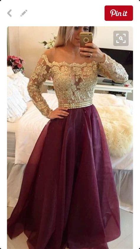 burgundy long prom dress popular  size formal evening