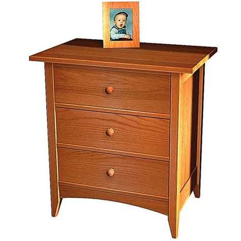 1 drawer nightstand plans hart design shaker 3 drawer nightstand plan woodworking