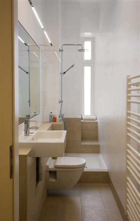 Kleine Badezimmer Nur Mit Dusche by Ideen Kleine Bader Schmales Badezimmer Dusche Beige