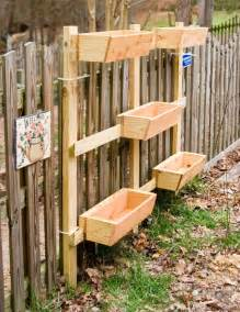 creative diy vertical wood garden planter boxes mounted on