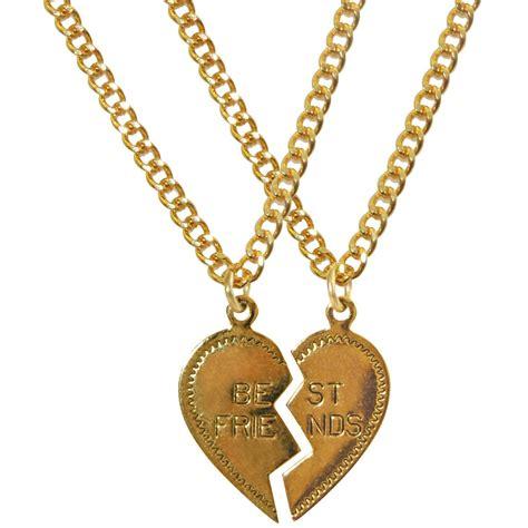dollydagger gold best friends charm necklace set