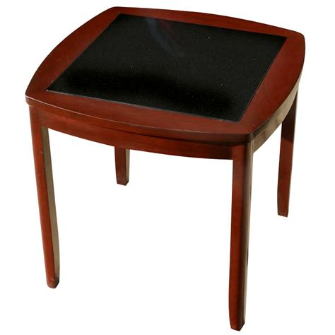 cherry wood accent tables 20 quot mid century cherry wood end granite table ebay