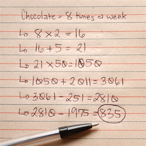 how to determine age how to calculate your age by chocolate with sheet
