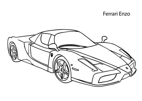 coloring pages ferrari cars super car ferrari enzo coloring page cool car printable