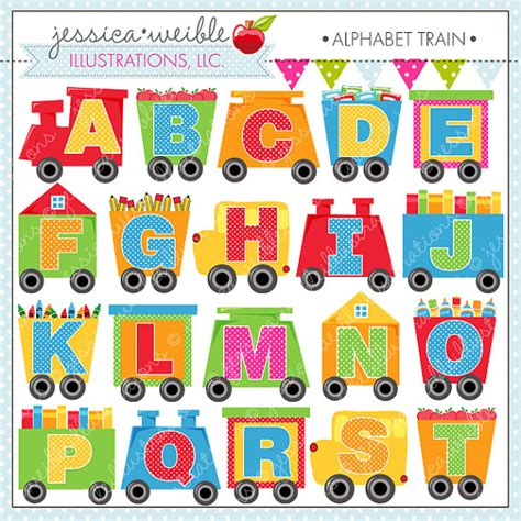 printable alphabet train alphabet train cute digital clipart for commercial or
