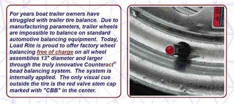 boat trailer tire balance bead balanced wheels on all 13 quot or larger assemblies