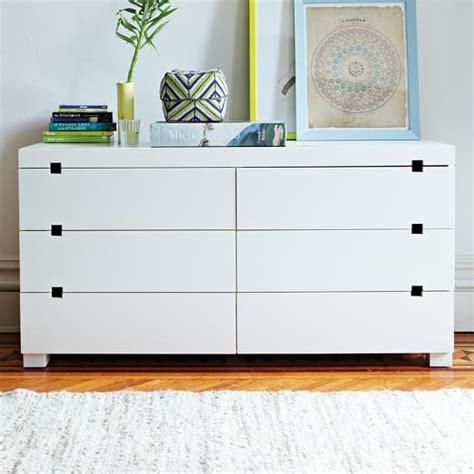 west elm modern white dresser square cutout 6 drawer dresser white west elm