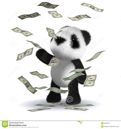How To Win Loads Of Money - 3d baby panda bear wins loads of money stock illustration image 45535677