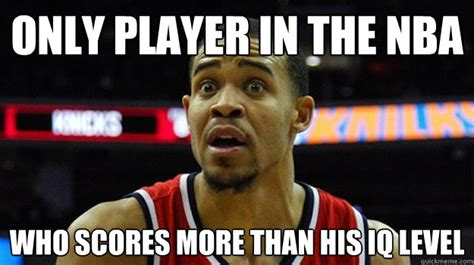 Javale Mcgee Memes - only player in the nba who scores more than his iq level