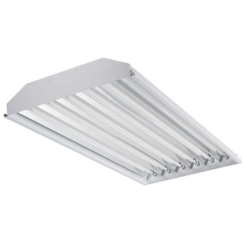 Ceiling Mounted Fluorescent Light Fixtures Juno Lighting T5e 654 U P24 S Acculite Te Series 6 Light Ceiling Mount Fluorescent Highbay