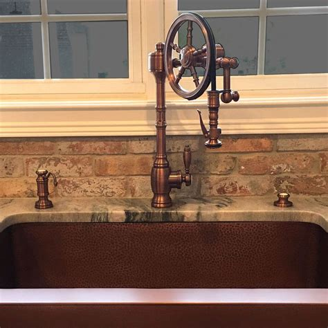 Antique Copper Kitchen Faucet by 15 Best Images About The Wheel Pulldown Faucet On